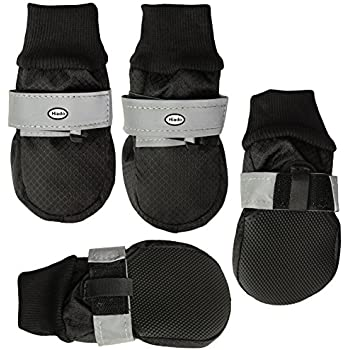 Amazoncom  Hiado Dog Shoes Boots With Non Slipping Soft Rubber - Dog shoes for hardwood floors
