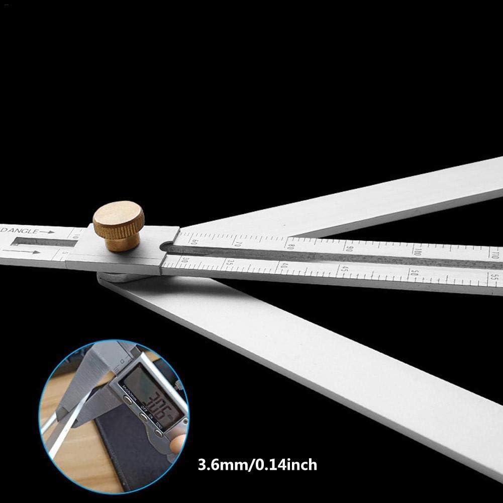 Eayse Winkelmesser Edelstahl Winkelmesser geeignet f/ür jegliche Schreinerwinkel Messungen