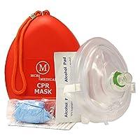Máscara médica del rescate del CPR de MCR, resucitador del bolsillo del adulto /del niño, estuche rígido con la correa para la muñeca