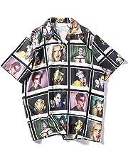Aelfric Eden Short Sleeve Japanese Harajuku Shirt Summer Devil Print Shirts