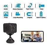 4K Mini Camera WiFi Wireless 2019 Newest Spy Camera with Seven Level Motion