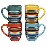 Certified International Pinata Mugs (Set of 4), 20 oz, Multicolor