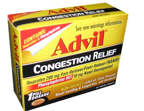 Advil Congestion Relief Non-Drowsy 200mg - 40ct Bottle Tablets