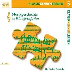 Musikgeschichte in Klangbeispielen (KlassikKennenLernen 5) Hörbuch