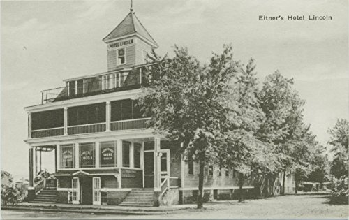 Historic Pictoric Postcard Print | Eltner's Hotel Lincoln [beautiful ext, writing on front windows advertising á là carte dinners, Rhode Island shore dinners, -