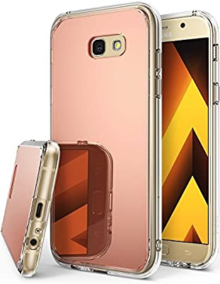 Ringke Fusion Mirror Compatible con Funda Galaxy A5 2017 Absorcion de Choque Cojín Carcasa para Galaxy A5 2017 - Oro Rosa Rose Gold