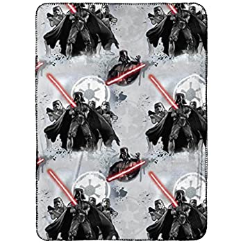 """Star Wars Vader/Trooper 40"""" x 50"""" Travel Blanket"""