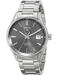 TAG Heuer Mens WAR211C.BA0782 Carrera Analog Display Swiss Automatic Silver Watch