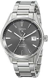TAG Heuer Men's WAR211C.BA0782 Carrera Analog Display Swiss Automatic Silver Watch