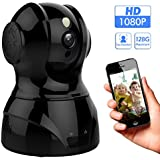 1080p 2.4GHz HD Wireless Indoor WiFi Home Security Camera With Face/Sound/Motion Detection, Two Way Audio, Night Vision Remote Control For Baby Elder Pet Office, Support Android IOS Windows Mac