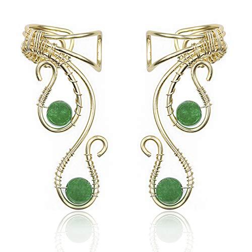 Elf Ear Cuffs Earrings, OwMell Ear Cuff No Piercing Ear Cuff Non Pierced Hypoallergenic Earrings -