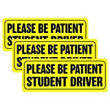 BOKA Student Driver Magnet Car Signs - Reflective Vehicle Bumper Magnet Set of 3 Magnetic Bumper Sticker for New...