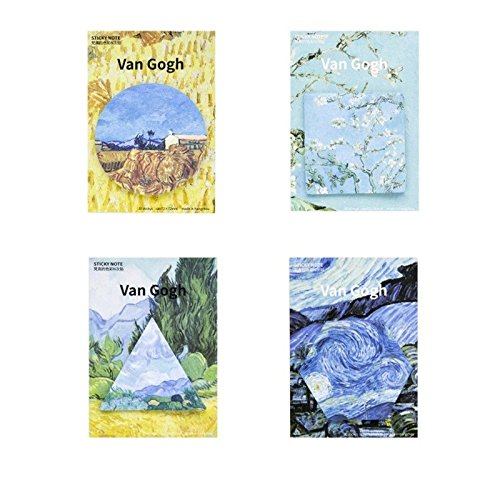 Set di 4Van Gogh a tema Sticky memo Marker notes unbranded