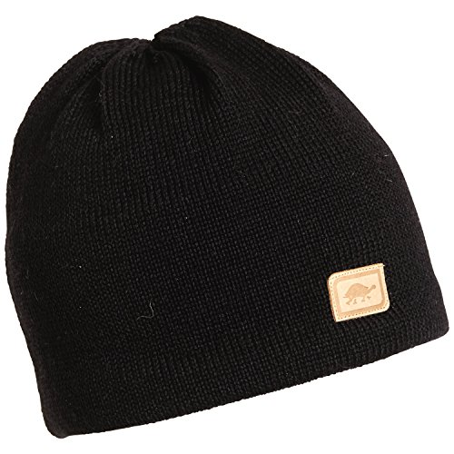 Turtle Fur Men's Solid Classic Wool Ski Hat Beanie, Black, XL