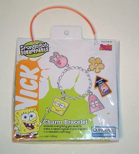 Spongebob Squarepants Makit Bakit Charm Bracelet Craft Kit Quincrafts a division of Colorbok