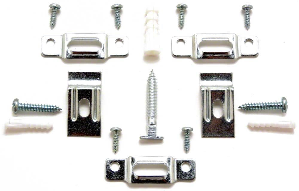 T-Lock security hangers locking hardware set for (100) wood or metal picture frames plus 3 FREE WRENCHES (2 regular, 1 extra-long)! by ArtRight B009YZPQ9M