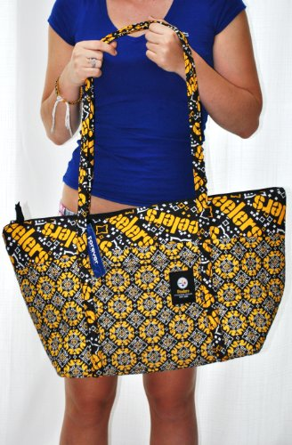Pittsburgh Steelers NFL Official Hugh special fabric large tote bag by forever