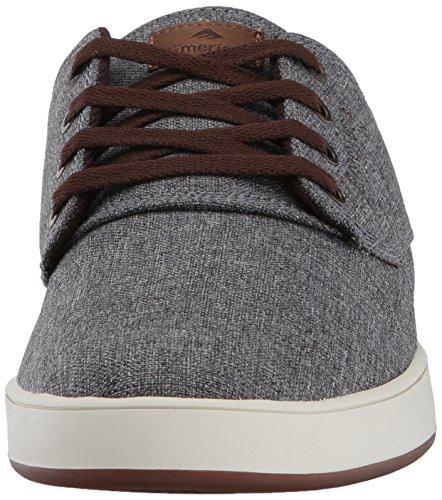 Emerica Men's Emery Skate Shoe, Black Black Black Grey/Brown