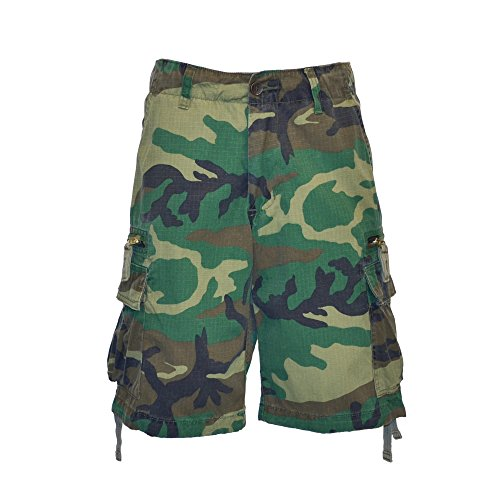 Molecule Men's Zipped Railers Cargo Shorts - Lightweight Cotton, Zipped Pockets | USA 31