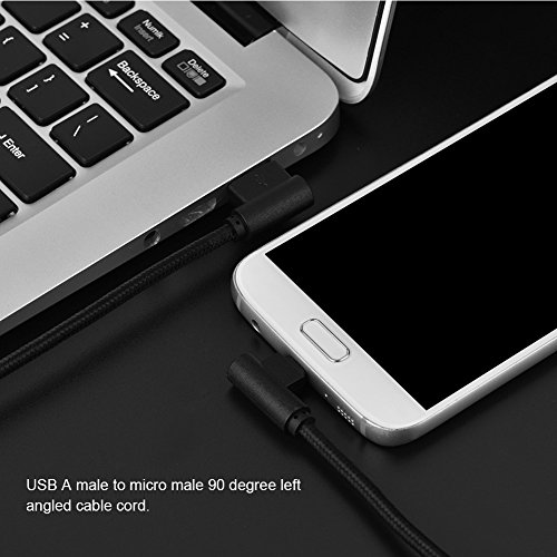 10ft Nylon Woven Braided 90 Degree Right Angle USB Charging /& Sync Cable for Android Device for Samsung LG Kindle Vbestlife USB Cable HTC Sony Nexus PS4 Controller and More Gold Motorola