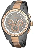 Hugo Boss Men's Quartz Watch with Grey Dial Chronograph Display and Multicolour Stainless Steel Strap 1512518