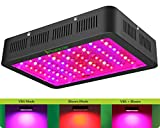 Cheap 1000w LED Grow Light with Bloom and Veg Switch,iPlantop Triple-Chips LED Plant Growing Lamp Full Spectrum with Daisy Chained Design for Professional Greenhouse Hydroponic Indoor Plants