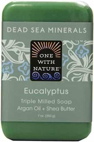 One With Nature Eucalyptus Dead Sea Mineral Soap, 7 Ounce Bar
