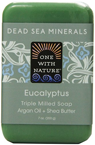 One With Nature Eucalyptus Dead Sea Mineral Soap, 7 Ounce Bar
