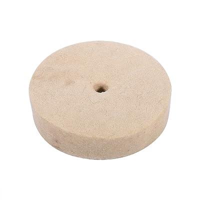 4 Inch Polishing Buffing Wheel, Wool Felt Metal Polishing Accessories Round Wheel Wool, 1 Inch Thickness: Home Improvement