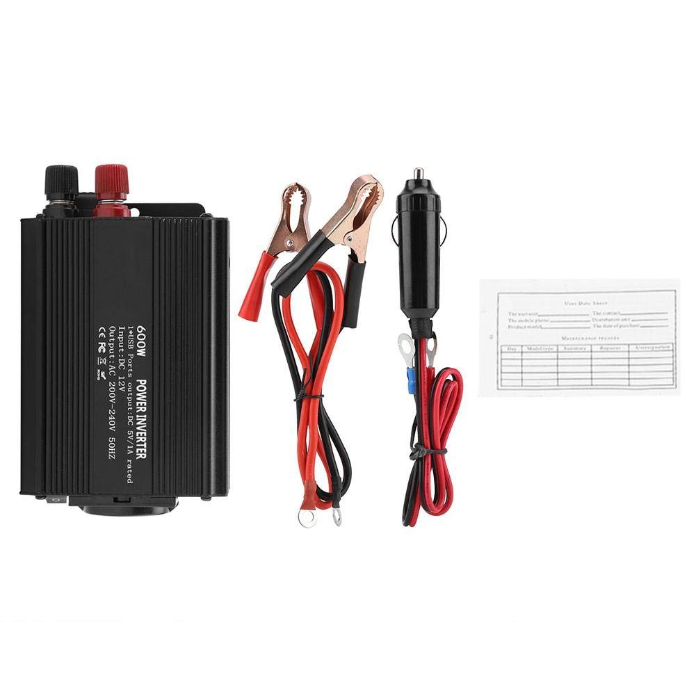 Bicaquu Korrektur-Sinus-Wechselrichter 12 V-Wandler 220 V 600 W Wechselrichter mit Sonnenkollektoren