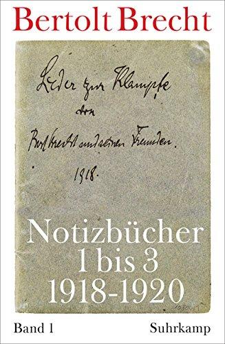 Notizbücher: Band 1: 1918-1920