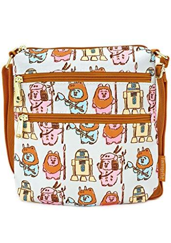 Loungefly x Star Wars Pastel Ewok Allover-Print Nylon Passport Bag