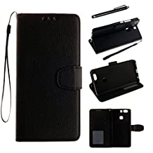 "Huawei P9 PLUS Case, Romantronic Premium PU leather Wallet Case Magnetic Snap Case Built-in Card Slots Flip Case Cover for Huawei P9 PLUS 5.5"" + Touch Pen, Y03"