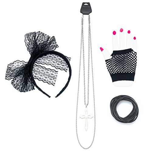 80s Costume Accessories for Women | Madonna Party Outfit for Halloween ()