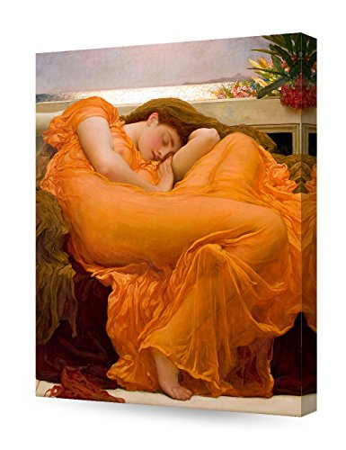 DECORARTS - Flaming June, Frederic Leighton Classic Art Reproduction. Giclee Canvas Prints Wall Art for Home Decor 20x16 ()
