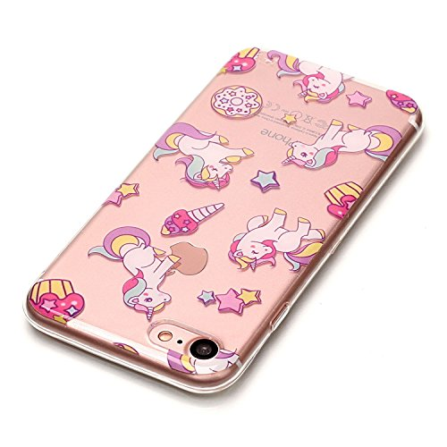 Custodia iPhone 7 / iPhone 8 , LH TPU Trasparente Silicone Cristallo Morbido Case Cover Custodie per Apple iPhone 7 / iPhone 8 4.7