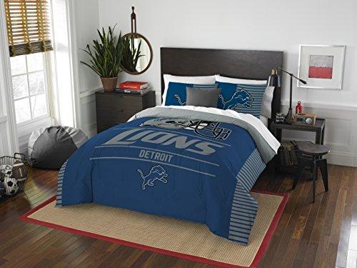 NFL Detroit Lions Draft Full/Queen Comforter and 2 Sham Set