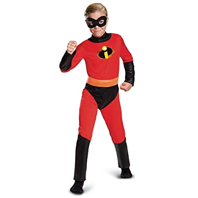 Disguise Dash Incredibles Child Costume with Metallic Logo and Detachable Belt: Clothing