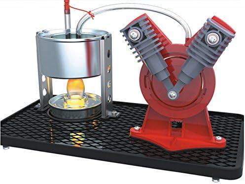 Sunnytech Mini Hot Live Steam Engine Model Education Toy Kits Diy V Type