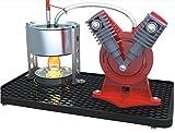 steam engine toys - Sunnytech® Mini Hot Live Steam Engine Model Education Toy Kits DIY (V-type)