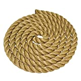 SGT KNOTS ProManila Rope (1.5 inch) UnManila Tan Twisted 3 Strand Polypropylene Cord - Moisture, UV, and Chemical Resistant - Marine, DIY Projects, Crafts, Commercial, Indoor/Outdoor (100 ft)