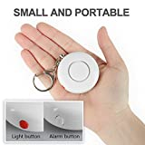 2 Pack Anrui Personal Alarm 120dB Keychain Rape Attack Safety Alarms for Women/Kids/Girls/Superior/Elderly etc Self Defense Loud Alarm Siren Keyring with LED Flashlight (White)