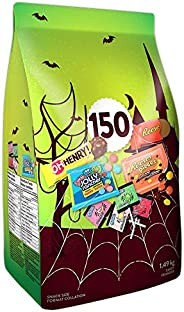 HERSHEY'S 150ct Assorted Halloween Chocolates and Candy- 1.49kg- Includes Reese, Reese's Pieces, OH He