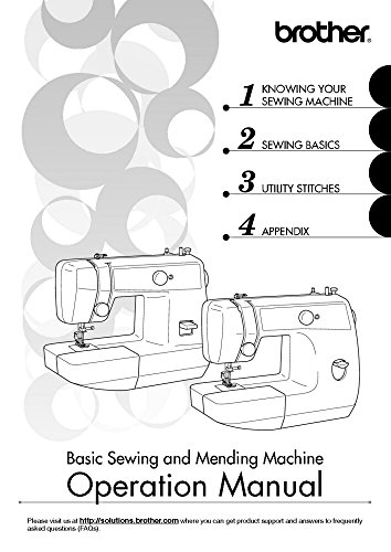 Brother LS2125 LS2125i LS2129 Sewing Machine Owners Instruction Manual [Plastic Comb] There and Back (Ls2125i Brother)