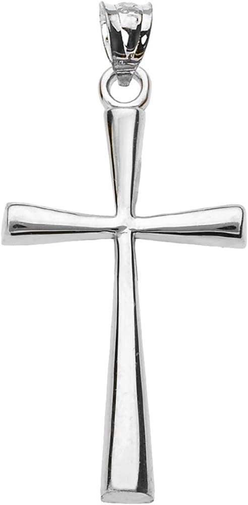Religious Jewelry by FDJ Sterling Silver Dainty Cross Pendant (3
