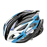 MCH-FJQXZ Integrally-molded EPS+PC Blue and White Cycling Helmets (21 Vents)
