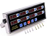 Digital Kitchen Timer - Wifond 8 Channels Stainless Steel Commercial Countdown Timer - Loud Alarm Memory Function for Multiple Events