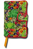Trade (Wider) Paperback Size - Frogs in the Garden Pattern Fabric Book Cover - Cloth Print Book Cover