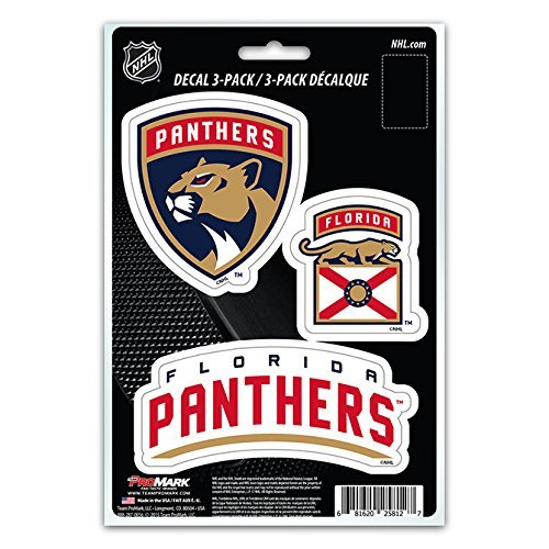 NHL Florida Panthers Team Decal, 3-Pack