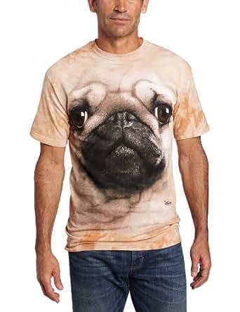 The Mountain Men's Pug Face T-shirt, Tan, Small
